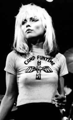 Debbie Harry from Blondie..oh, my fave in the 80-ties <3 Shes so cool !