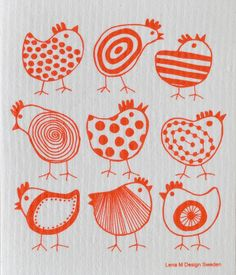 Vaatdoek Red Chicken - biologisch afbreekbaar