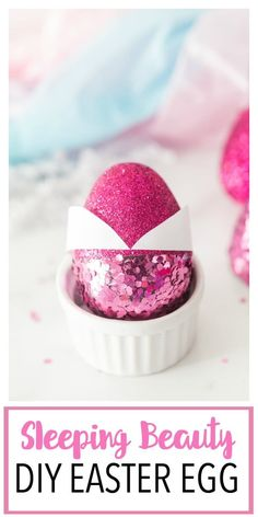 This Disney Princess Inspired DIY Easter Egg is a fun Disney princess craft centered around Princess Aurora from Sleeping Beauty! This jewel toned egg makes a g Easter Crafts For Toddlers, Toddler Crafts, Diy For Kids, Disney Princess Crafts, Disney Diy, Disney Crafts, Easter Gift Baskets, Basket Gift, Boy Diy Crafts