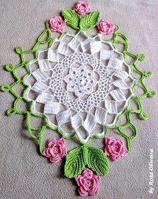 Diy Crochet And Knitting, Crochet Home, Thread Crochet, Love Crochet, Irish Crochet, Crochet Leaves, Crochet Circles, Crochet Flowers, Crochet Dollies