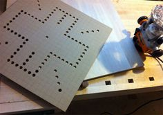 Wahoo Board Game 105 Holes With The Drill Press In Hardboard For Template
