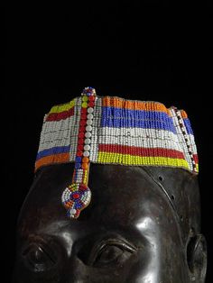 Africa | Head Ornament  from the Massai people of Kenya | ca. 1980
