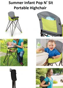 Baby Baby Gear Eddie Bauer Pop Up Booster Seat High Chair Travel Holds Up To 30lbs