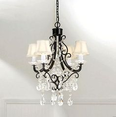 Small shabby chic chandelier for my laundry room.