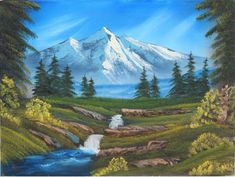 bob ross mountain paintings - Google Search