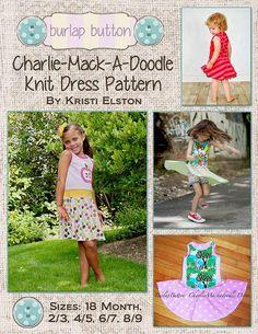 Charlie MackADoodle Knit twirl dress sizes 18m 2/3 by burlapbutton