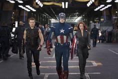 Captain America voorop in de strijd.