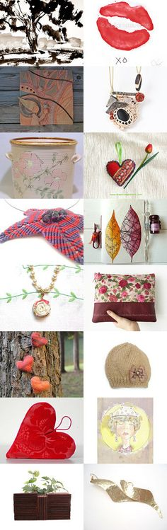 Beautiful Valentine's gifts under the tree by Paola Fornasier on Etsy--Pinned with TreasuryPin.com