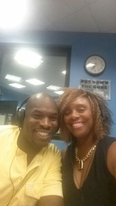 Okera and Myself on WVON, answering Chatdaddy relationships questions.