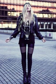 Punk Rock meets Street Style for this rockin' look! #outfits #fashion #ideas