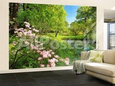 Park In The Spring Wall Mural Landscapes Wallpaper Mural - 366 x 254 cm