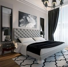 Awesome 71 Timeless Black And White Bedrooms That Know How To Stand Outhttps://oneonroom.com/71-timeless-black-and-white-bedrooms-that-know-how-to-stand-out/