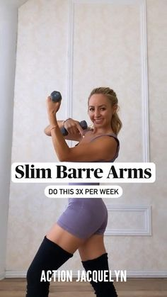 Fitness Workout For Women, Fitness Diet, Fitness Motivation, Easy Workouts, At Home Workouts, Barre Arm Workout, Get In Shape, Workout Videos, Fitness Inspiration