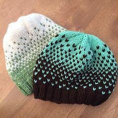 Free pattern on Ravelry Ombre hats