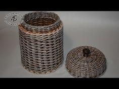 The easiest basket borders Newspaper Basket, Newspaper Crafts, Paper Furniture, Wicker Furniture, Sun Paper, Paper Art, Willow Weaving, Basket Weaving, Pine Needle Crafts
