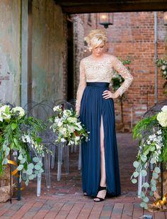 Stunning alternative wedding dress