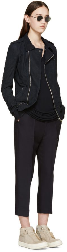 Rick Owens Dark Blue Stooges Jacket