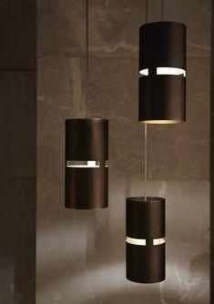 Pendant lamp / contemporary / metal by Indesign Living Led Pendant Lights, Modern Pendant Light, Chandelier Lighting, Pendant Lamp, Wooden Lamp, Wooden Diy, Modern Lighting, Lighting Design, Pvc Pipe Crafts