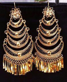 Mexican Filigree Earrings Handmade From Oaxaca Style#7903. Aretes de Filigrana. #Handmade