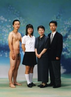 Looking at ideas for your family photos, who should pose as the man on the left BJ or your Dad?