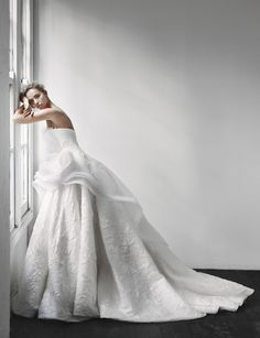 Out of This World Gorgeous Steven Khalil Wedding Dresses 2013 Collection. To see more: http://www.modwedding.com/2014/01/02/gorgeous-steven-khalil-wedding-dresses-2013-collection/ #wedding #weddings