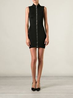 Anthony Vaccarello Front Zip Fitted Dress - Mayurka - Farfetch.com