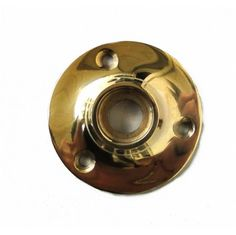 Small Door Rosette of Solid Brass great for porcelain black base hardware renovators supplies