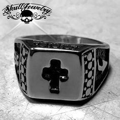 'St. Paul' Christian Cross Ring Made of highest grade 316L stainless steel, oxidized casting finish with cross design. Wear it with peace of mind everyday. T...