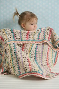 Skip traditional and go for a blanket with more texture and interesting stitches. This baby blanket is great for little ones and will be cherished for many years.