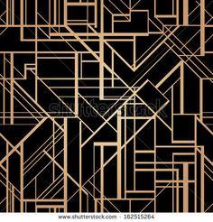 Art Deco Geometric Pattern 1920s Style Stock Vector 142495522 ...