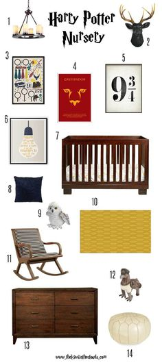 A modern Harry Potter nursery design. Click through for all the details + a FREE download.