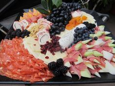 spanish tapas party decorations | melon wrapped in cured ham, herb goat cheese, dried fruit, grapes and ...