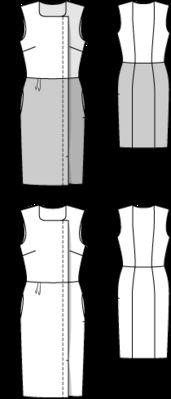 Sheath Dress - Iris - pattern