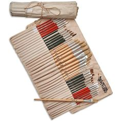 Art Owl Studio 36 Paint Brushes for Painting Acrylic, Oil, Watercolor... ($35) ❤ liked on Polyvore featuring home, home improvement and storage & organization