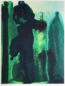 Su obra es difícil de definir, son mágicas abstracciones de colores, y otras de blanco y negro, y sin un tema particular, ya que nacen de la constante evolución creativa innata del pintor.