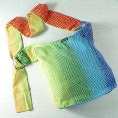 New Ringsling bag Ring Sling, Rainbow Fashion, Woven Wrap, Baby Wraps, Babywearing, Squats, Backpacks, The Originals, Bags