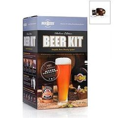 Mr Beer Deluxe Kit with Bottle Capper, Caps and More by Home-Brew. $59.95. Includes Strange Brew Bumper Sticker too!. Includes Brewing Keg, Beer Ingredients, Sanitizer and Instructions.. Also Includes 50 Bottle Caps.. Also includes hand capper (exact model and color may vary).. Mr Beer Deluxe Kit. Mr Beer kit and superior bottling system. Use your own pry-top glass bottles with this great brew kit from Home-Brew.