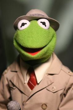Kermit started out as a news reporter and worked his way to the top....and well, the rest is history.