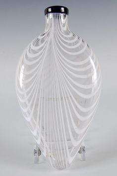 on Oct 2012 Glass Flask, Factories, Black Trim, Auction, Vase, Bottle, Flask, Vases, Jars