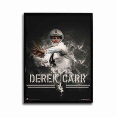Oakland Raiders Derek Carr Silver Slinger 24x18 Football Poster