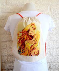 Mochila 100% Lona.- 3.990.-CLP comksdesign.blogspot.com