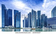 SINGAPORE - CIRCA MAY Urban landscape of Singapore. Skyline and modern skyscrapers of business district Marina Bay Sands at most financial developing Asian city state. Modern Skyscrapers, City State, Urban Landscape, Marina Bay Sands, San Francisco Skyline, Singapore, New York Skyline, Multi Story Building, Stock Photos