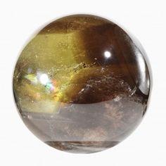 Citrine 4.46 inch 4.0 lbs Smokey Phantom Natural Crystal Sphere -Brazil
