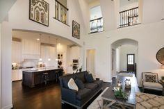 Highland Homes | Long Meadow Farms 80s | Living Room | Richmond, TX | Plan 297