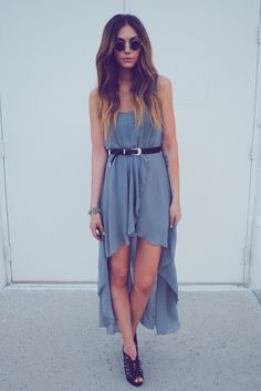 grey maxi dress -dirtylittlestylewhoree