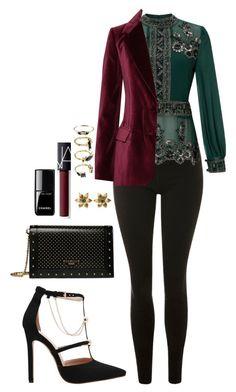 Street style by dalma-m on Polyvore featuring polyvore fashion style Miss Selfridge STELLA McCARTNEY Topshop Balmain Noir Jewelry La Perla NARS Cosmetics Chanel clothing