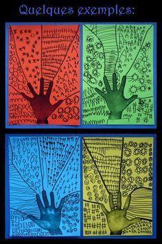 Le Journal de Chrys: Main et graphismes Kindergarten Art, Preschool Art, Classe D'art, Ecole Art, Hand Art, Elements Of Art, Art Classroom, Art Activities, Kindness Activities