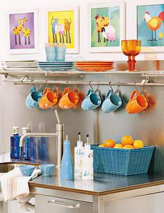 Decoración colorida para la cocina