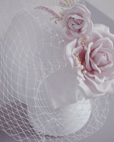 Custom order bridal hairband birdcage veil by JanaRoyaleDesign