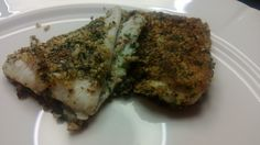 Flounder fried in almond flour and parsley
